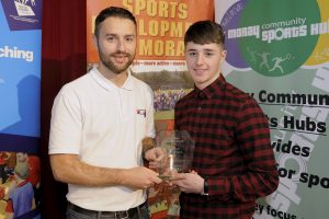 2016 sportMoray Awards Evening at Elgin Town Hall. Intermediate Sportsman Award Presented by: Stephen Gertsen (Sports Lecturer Moray College) Winner: Dylan Parker-Banfield (Kickboxing) Picture: Daniel Forsyth. Image No.035757