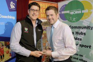 2016 sportMoray Awards Evening at Elgin Town Hall. School Sport Volunteer Award Presented by: Tim Walters (Active Schools) Winner: Stuart McQuaker (Basketball) Picture: Daniel Forsyth. Image No.035757